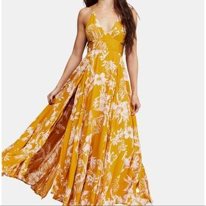 Free People Lille Printed Maxi dress NWT L